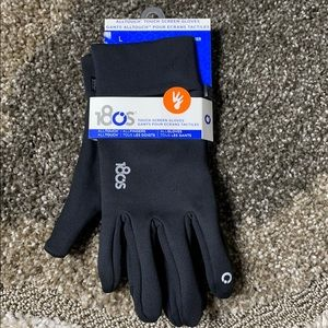 180s Black Performer TouchScreen Compatible Gloves